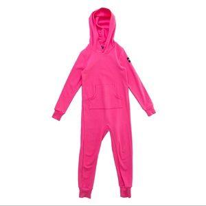 EUC Rowe Apparel big kid romper in pink